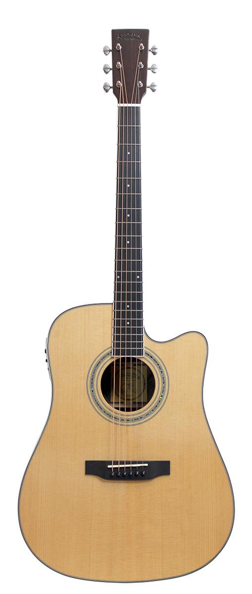 Image of   Santana ST300W, Western Guitar, Cutaway og Pickup, Høj Glans