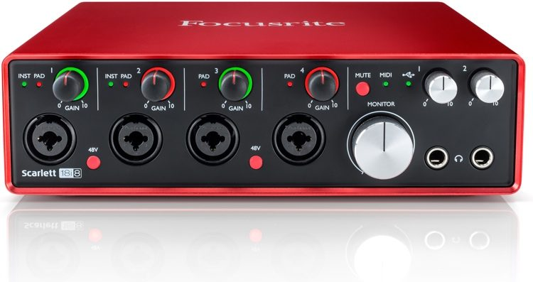 Image of   Focusrite Scarlett 18i8 | 2nd Gen