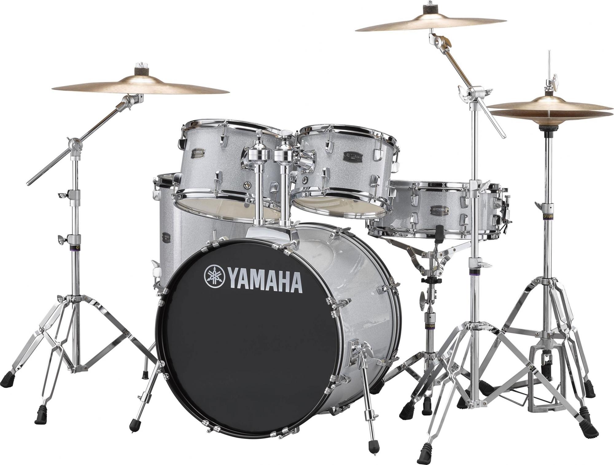 Yamaha Rydeen Studio Trommesæt - inkl. hardwarepakke og bækkener - Silver Glitter