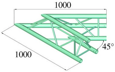 Image of   Alutruss TRILOCK 6082AC-19 2-way corner 45°