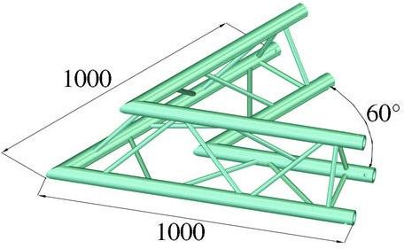 Image of   Alutruss TRILOCK 6082AC-20 2 Vejs Hjørne 60°