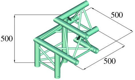 Image of   Alutruss TRILOCK 6082AL-32 3-way corner /\ left