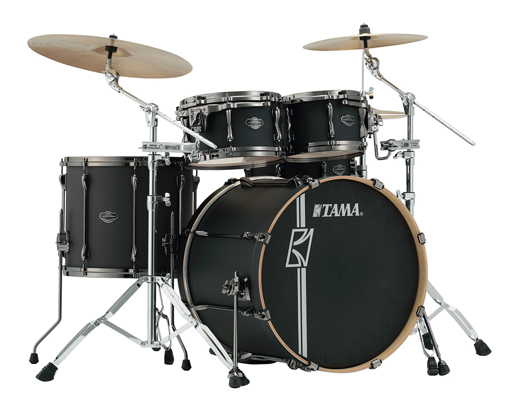 Tama Superstar Hyperdrive Maple Lacquer - 4-piece drumset, Flat Black