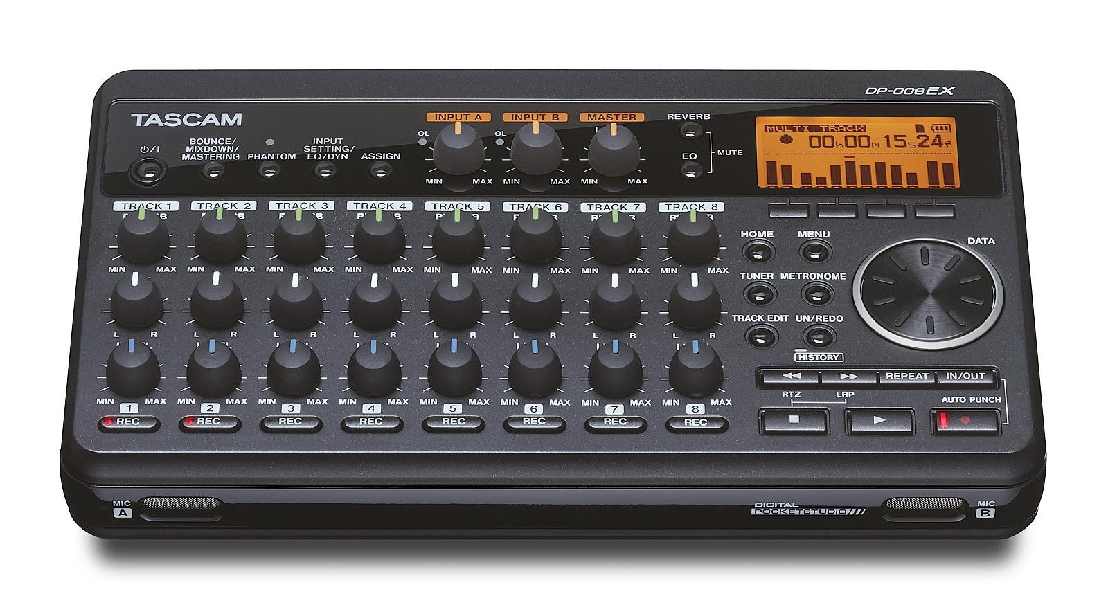 Image of   Tascam DP-008EX digital 8 track recorder