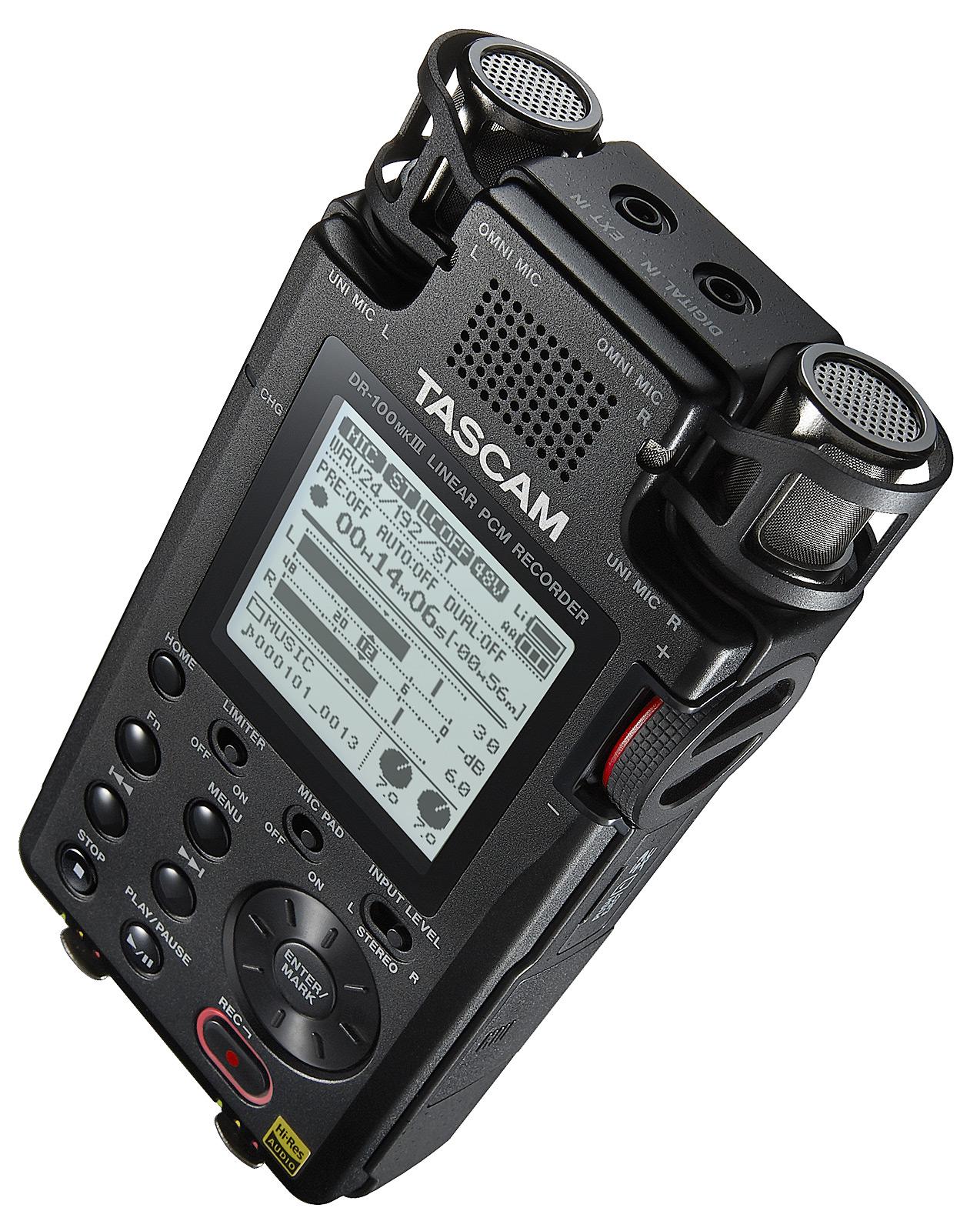 Image of   Tascam DR-100MK3 håndholdt stereo optager