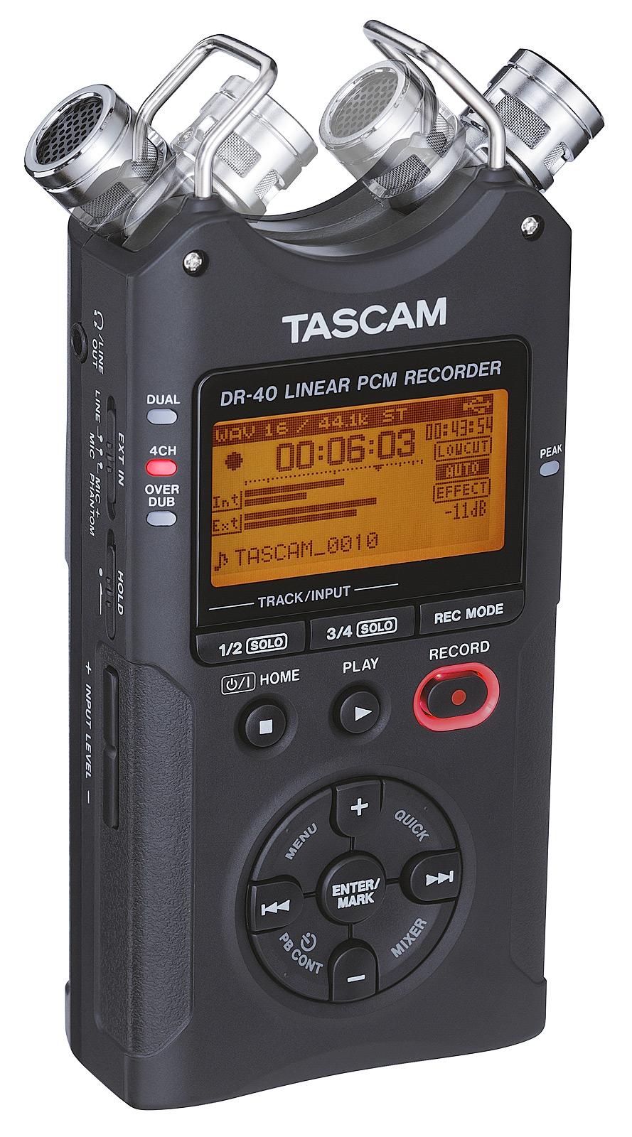 Image of   Tascam DR-40V2 håndholdt stereo optager