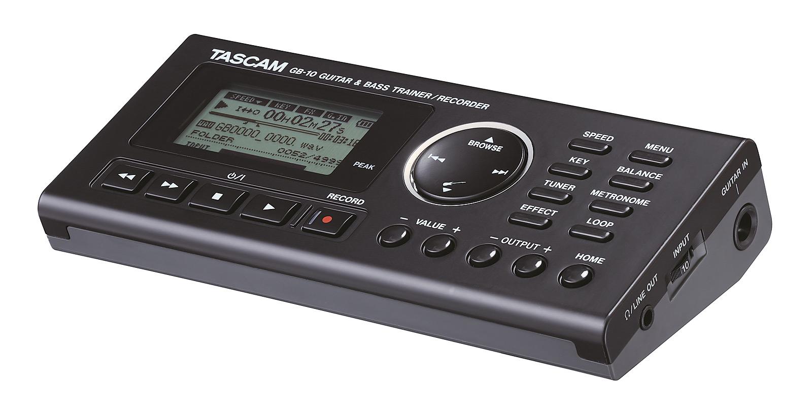 Image of   Tascam GB-10 alt-i-en bas og guitar trainer/recorder
