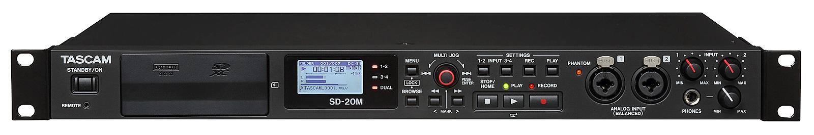 Tascam SD-20M harddisk audio recorder