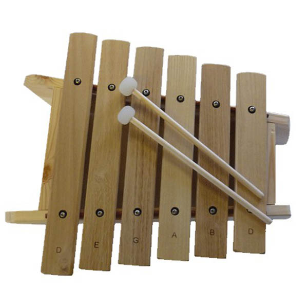 Trommus Marimba D, 6 toner