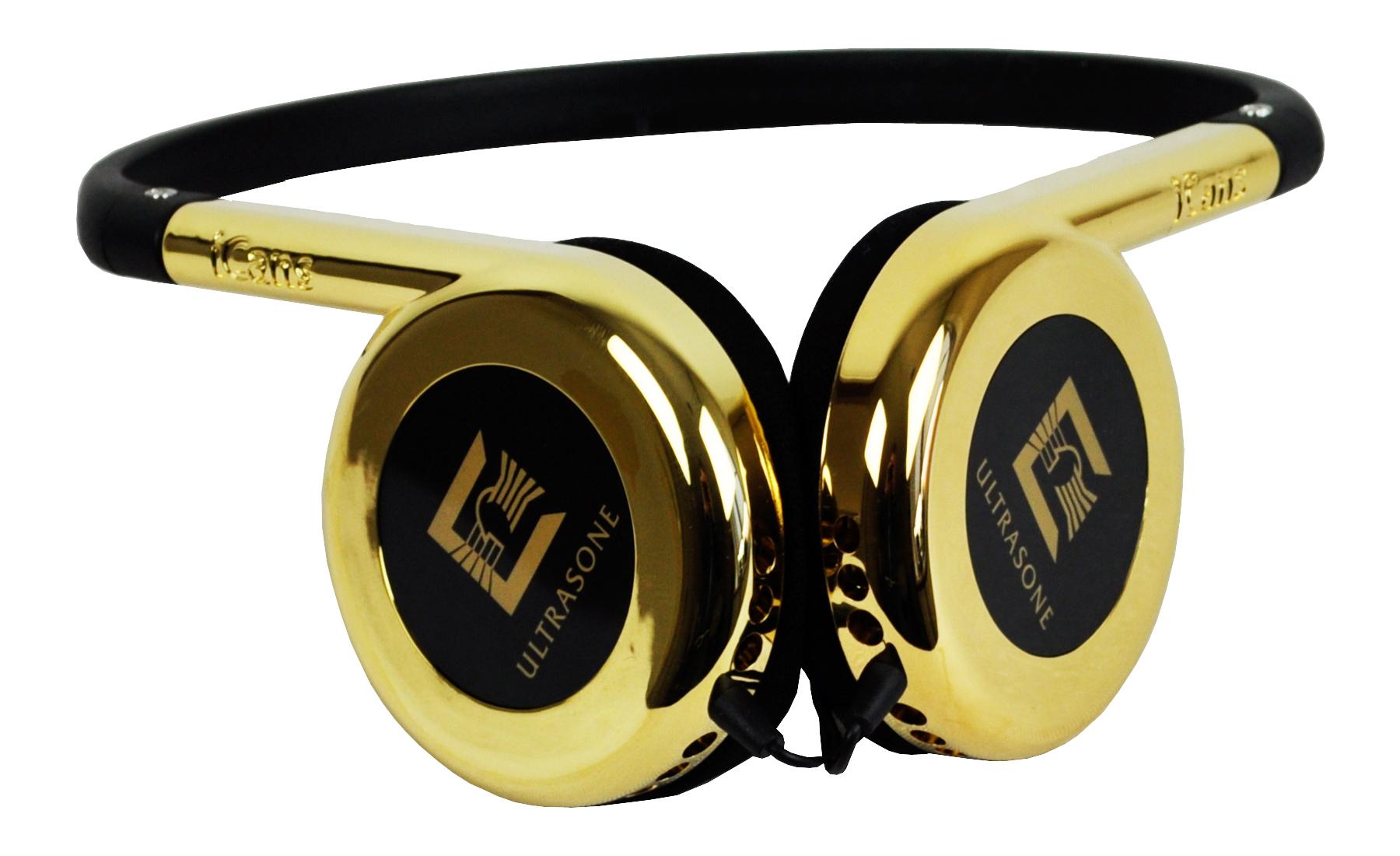 Ultrasone I-Cans Aurum hovedtelefon, 24K guld belagt