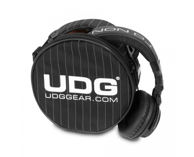 Image of   UDG Ultimate Headphone Bag Black/Grey Stripe U9960BG