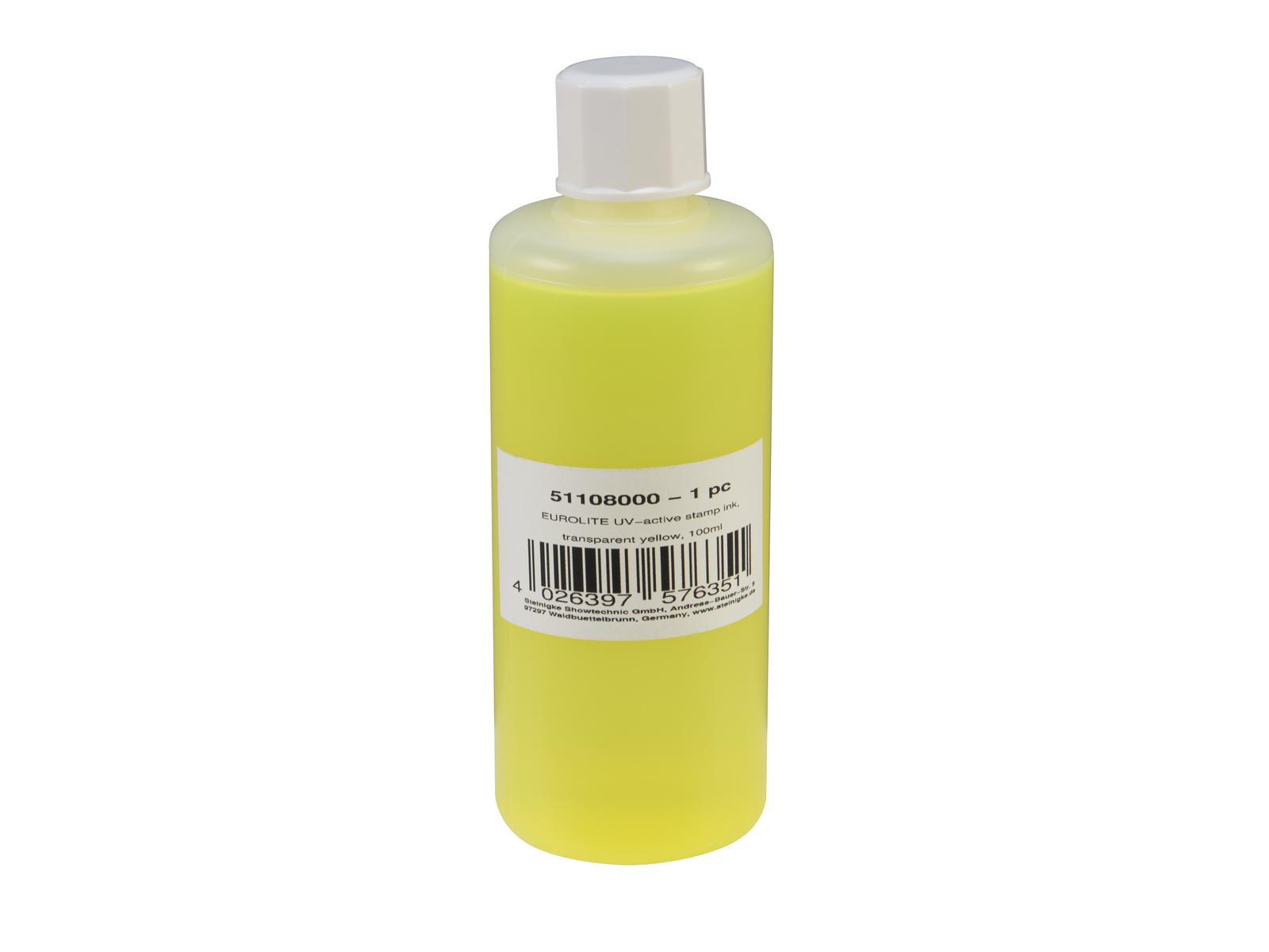 Eurolite UV Stempel væske 100ml Gul