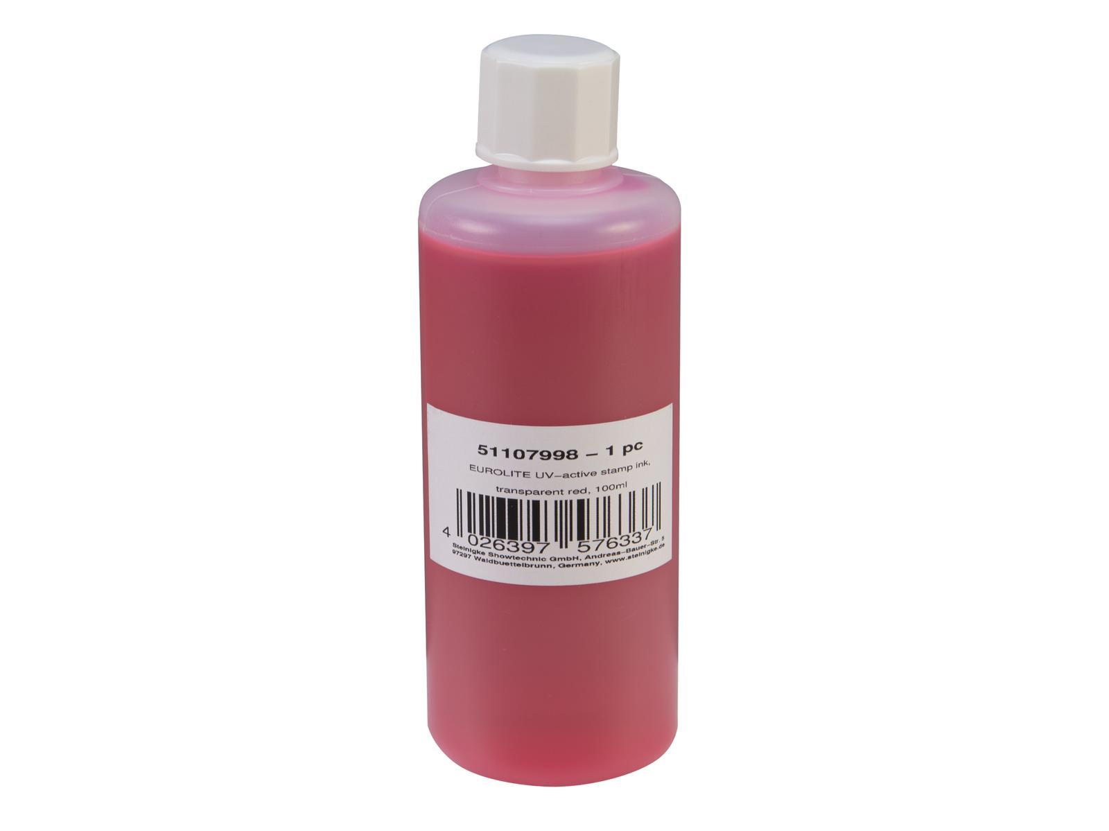 Eurolite UV Stempel væske 100ml Rød