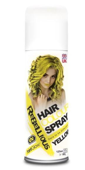 Image of   UV hårfarve-spray Gul