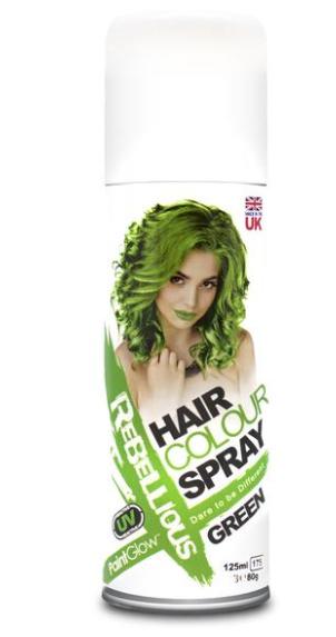 Image of   UV hårfarve-spray Grøn