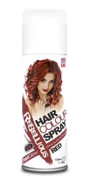 Image of   UV hårfarve-spray Rød
