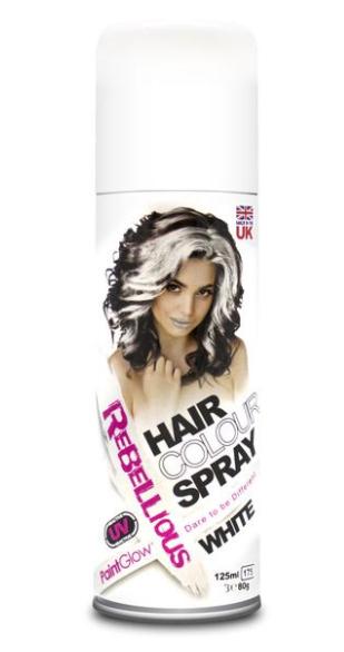 Image of   UV hårfarve-spray Hvid