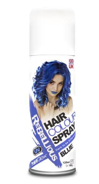 Image of   UV hårfarve-spray Blå