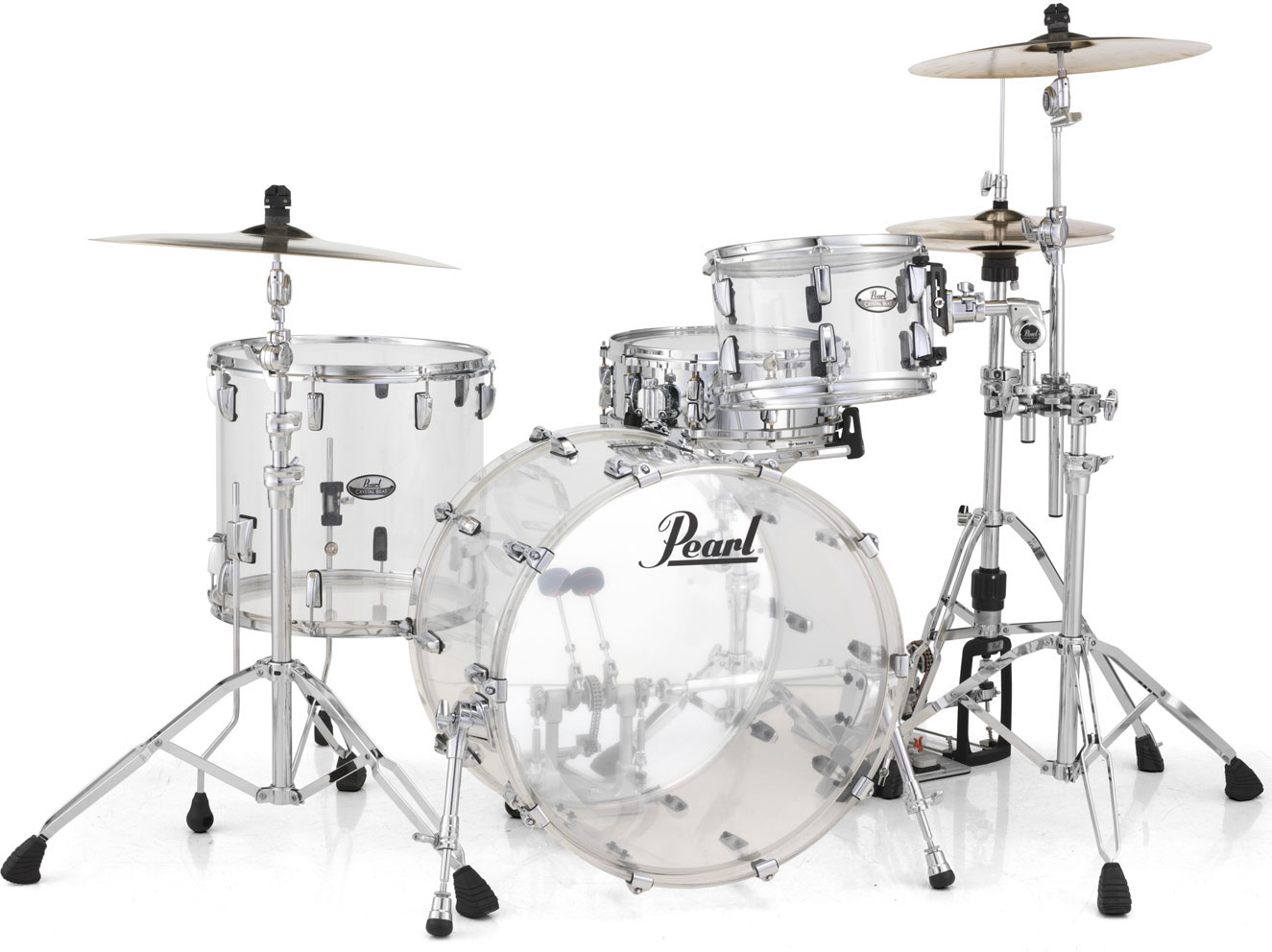 Pearl Crystal Beat Studio Trommesæt Ultra Clear
