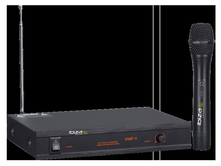 Image of   Ibiza trådløs mikrofonsystem, 1 kanal 203.5 MHz