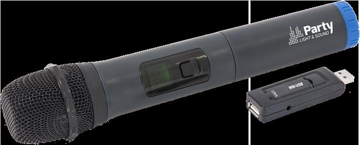 Image of   WIRELESS UHF MICROPHONE SYSTEM VIA USB