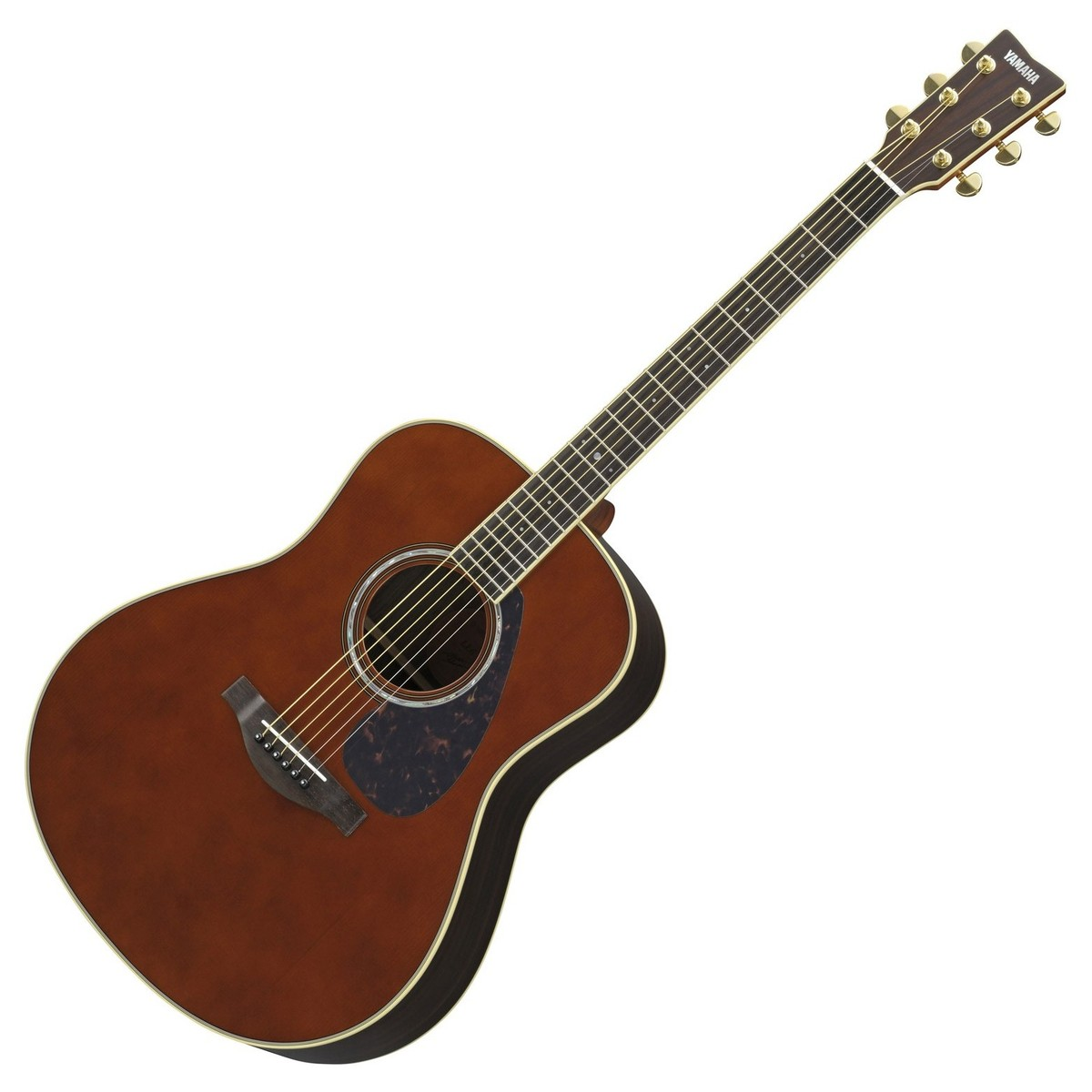Yamaha LL16 western guitar - brown