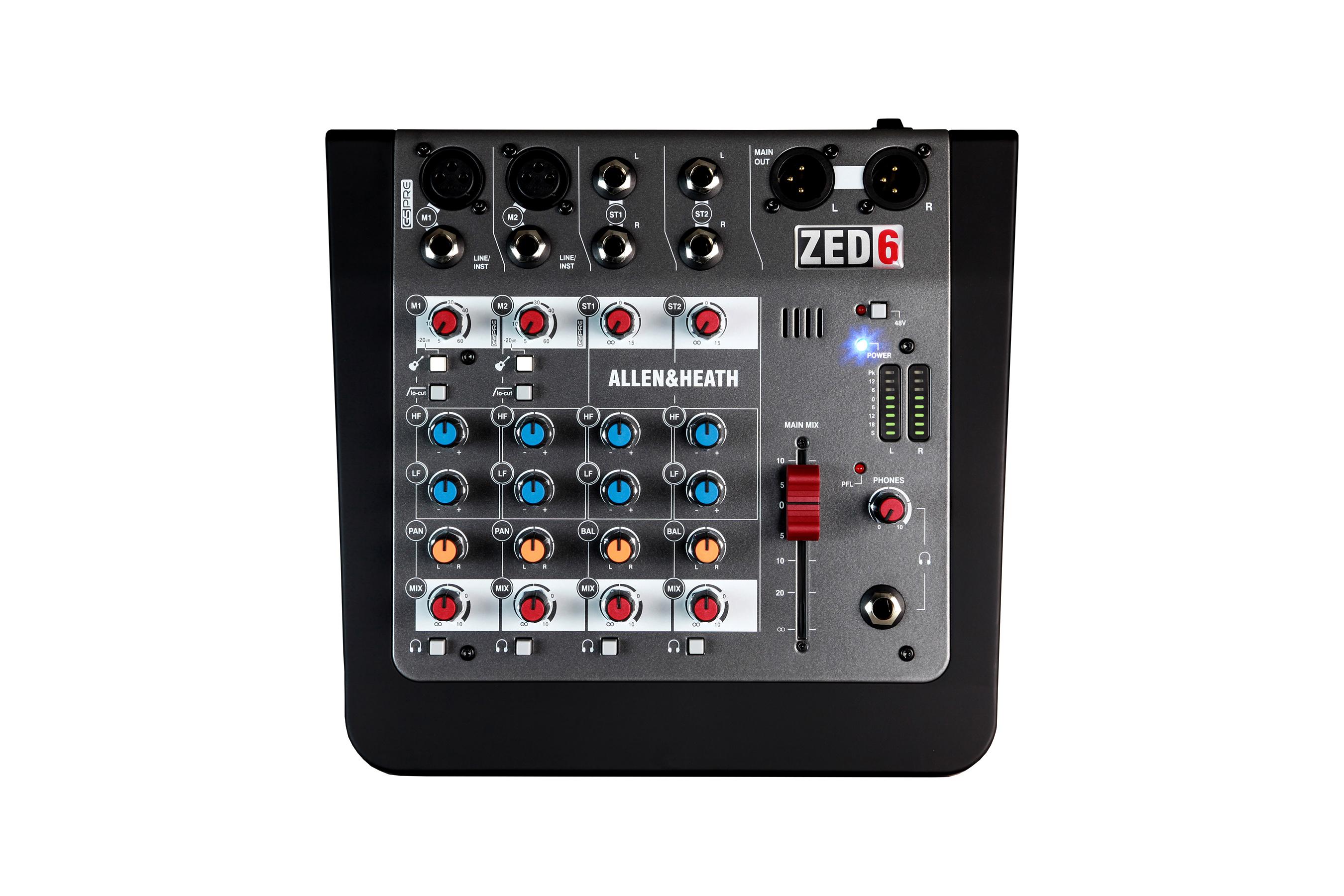 A&H ZED6 6 kanals live mixer