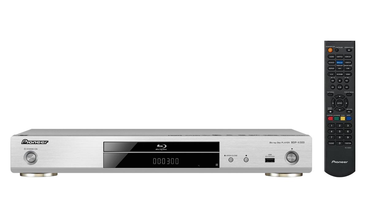 Pioneer BDP-X300 Blu-Ray afspiller Farve: Sølv