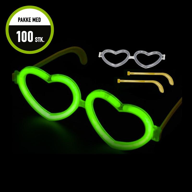 Billede af Party4Fun, 100 stk knæklys briller, blandede farver