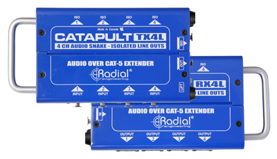 Image of   Radial Radial Catapult Tx4L - 4Ch Transmitter, Balanced I/O, Line-Level Trans
