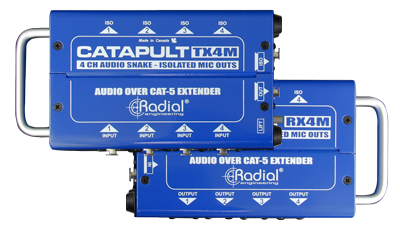 Image of   Radial Radial Catapult Rx4 - 4Ch Receiver, With Balanced Outs, Uses Shielded