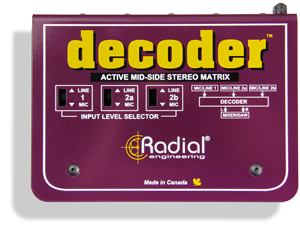 Image of   Radial Radial Decoder- Mid/Side Matrix And Mic Preamp