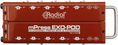 Image of   Radial Radial Exo-Pod - Press-Box Expander Floorbox With 10 Xlr And 4 3.5Mm O