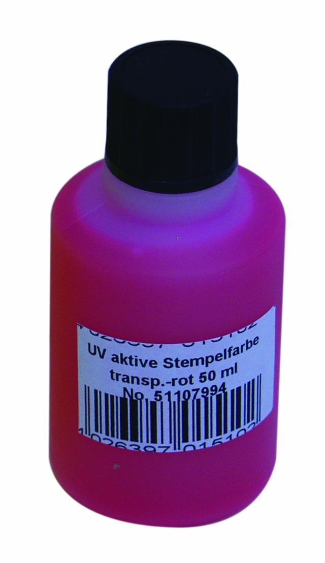 Eurolite UV Stempel væske 50ml Rød