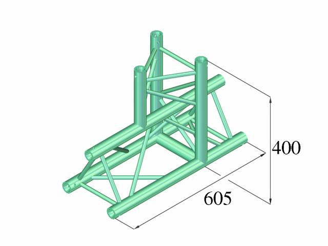 Alutruss DECOLOCK DQ3-PAT37 3-way T-piece 90°