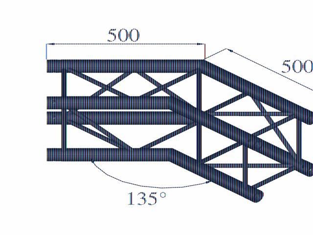 Image of   Alutruss QUADLOCK 6082C-23 2-way corner 135°