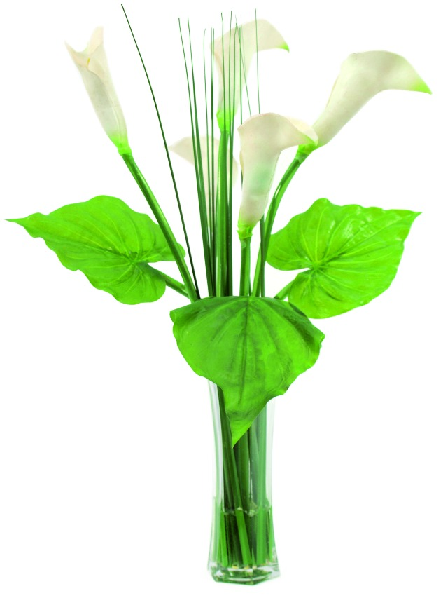 Kunstig Calla in glass, 64cm