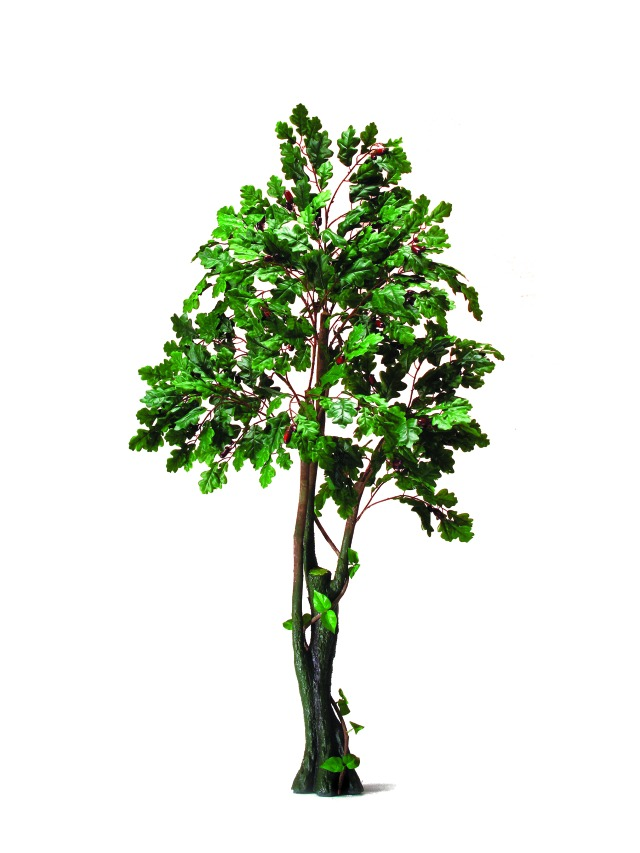Kunstig Oak Forest Tree, 180cm