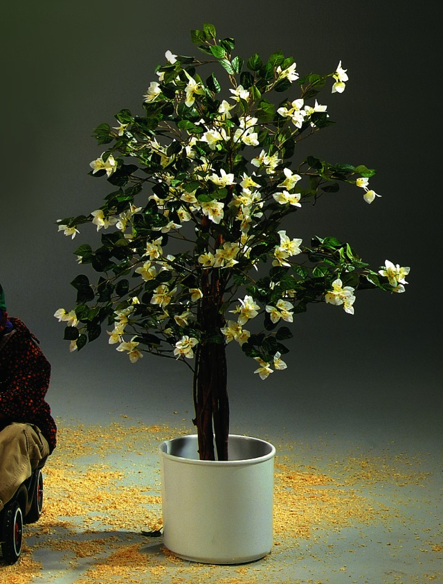 Image of   Kunstig Bougainvillea, white, 180cm