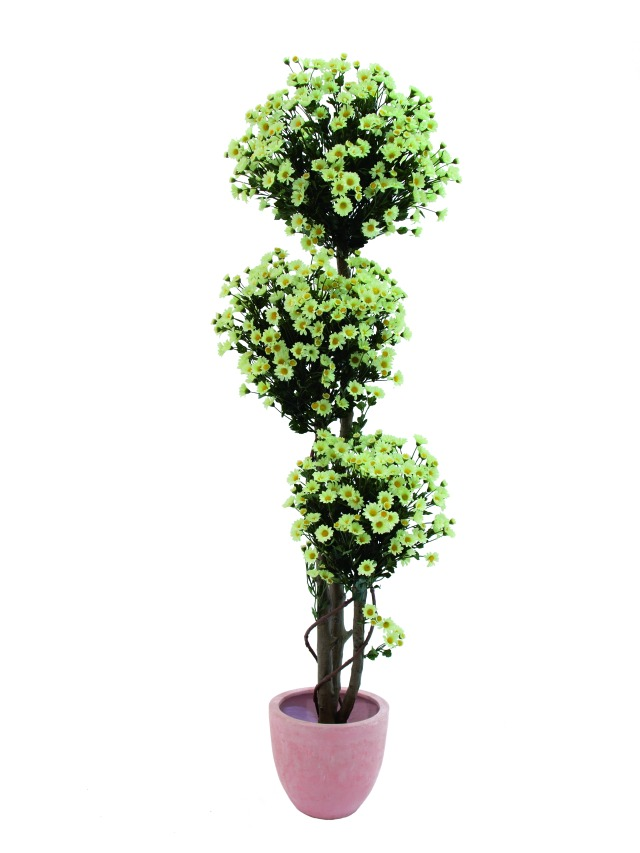 Image of   Kunstig Margaritenglobestree, 160cm