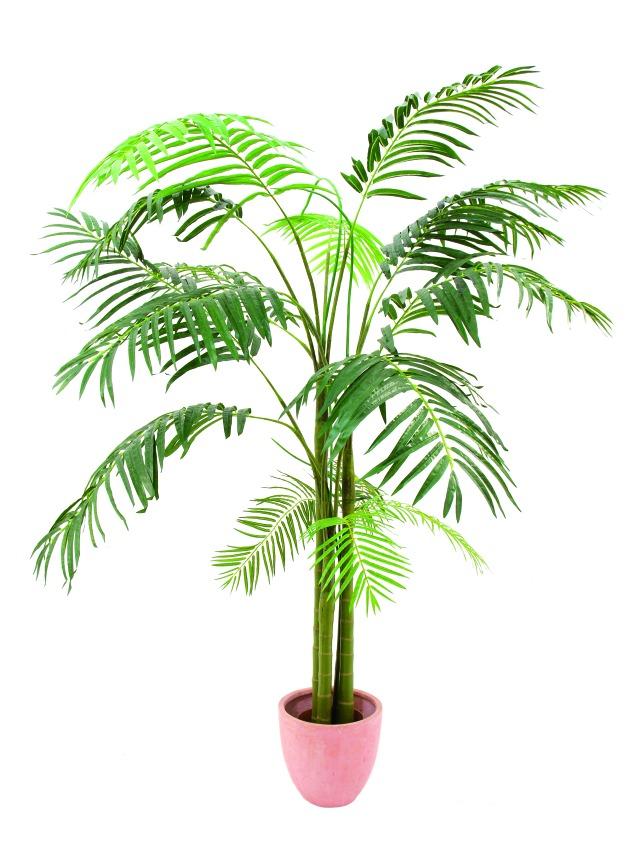 Kunstig Areca Palme, 3 stammer, 210cm