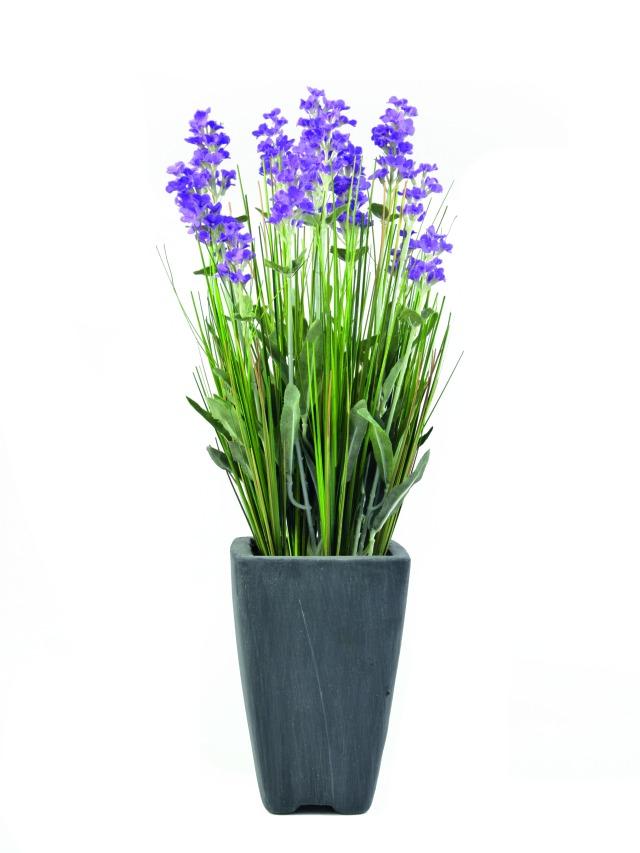 Image of   Kunstig Lavender, purple, in pot, 45cm