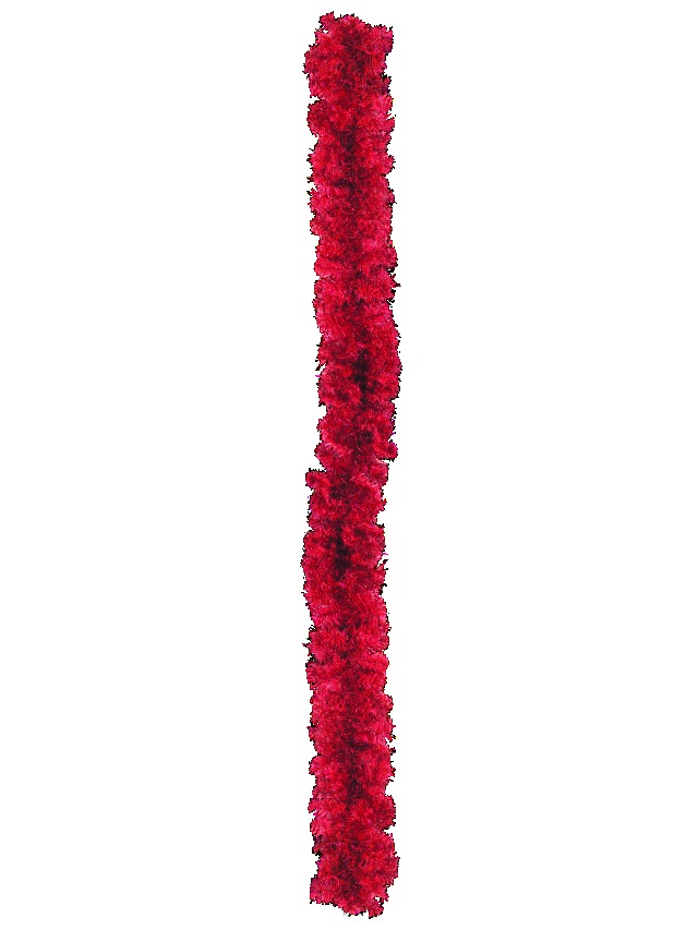 Noble pine garland, red, 270cm