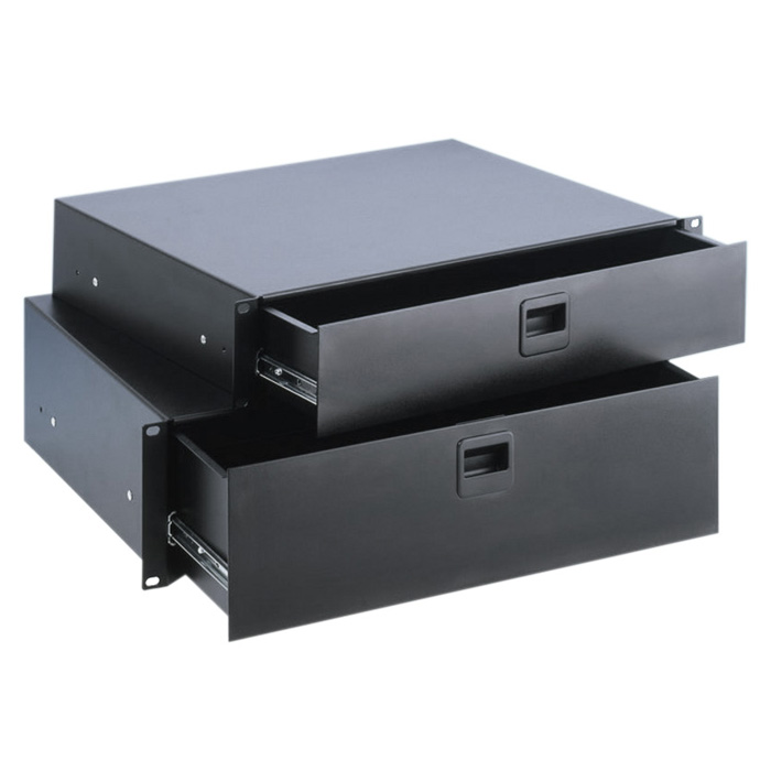 Adam Hall 87403E Rack Skuffe 3 Unit stål (7,3kg)