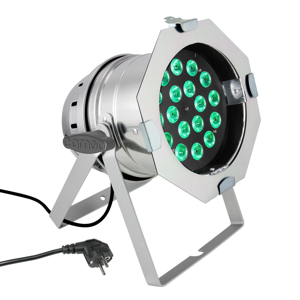 Cameo PAR 64 CAN 18x8W RGBW Sølv