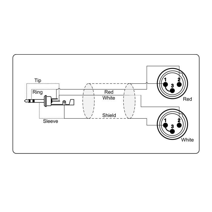 adapter kabel 3 5 mm minijack stereo til 2 x xlr han  u2192 k u00f8b