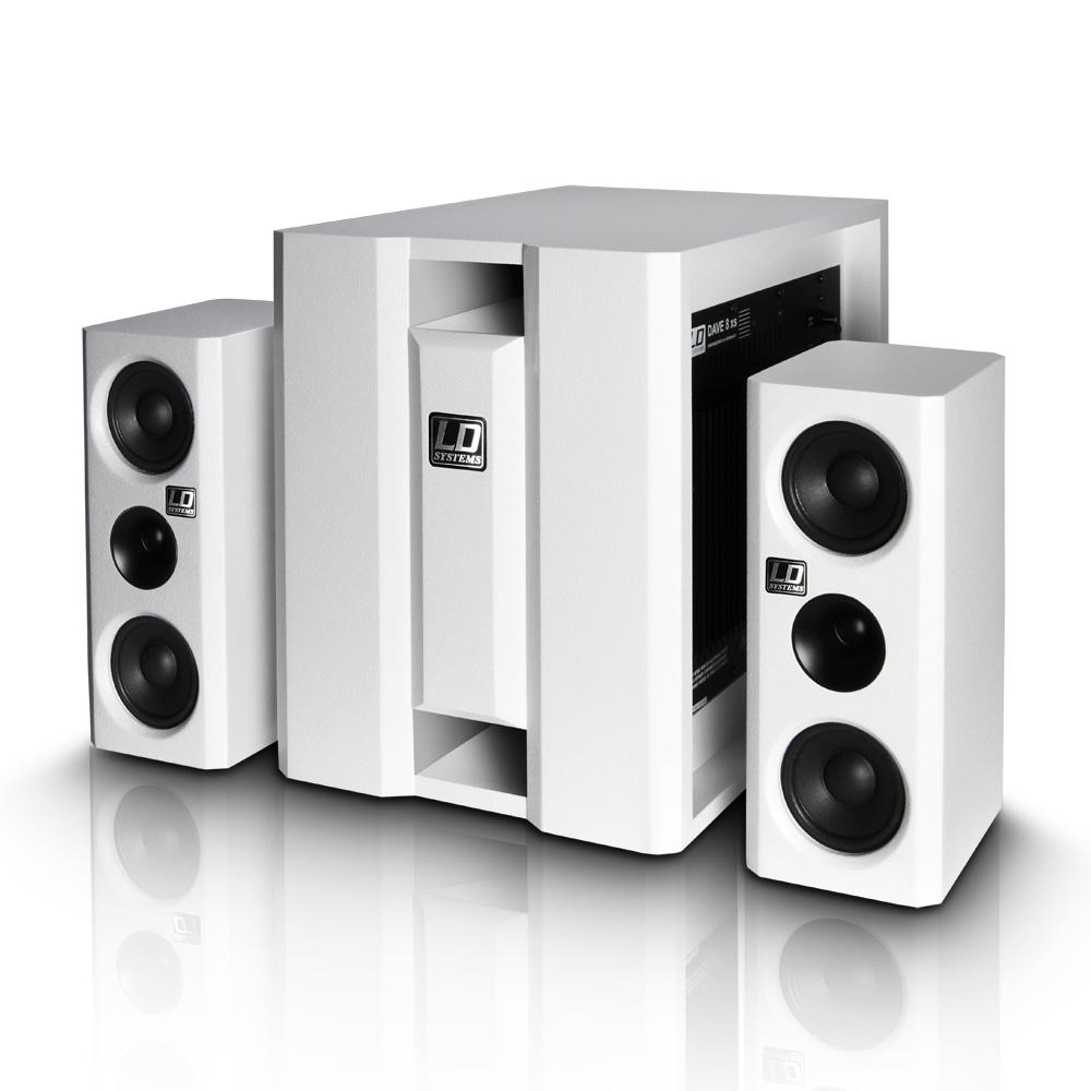 Image of   LD Systems DAVE 8 XS Hvid Aktiv Lydanlæg