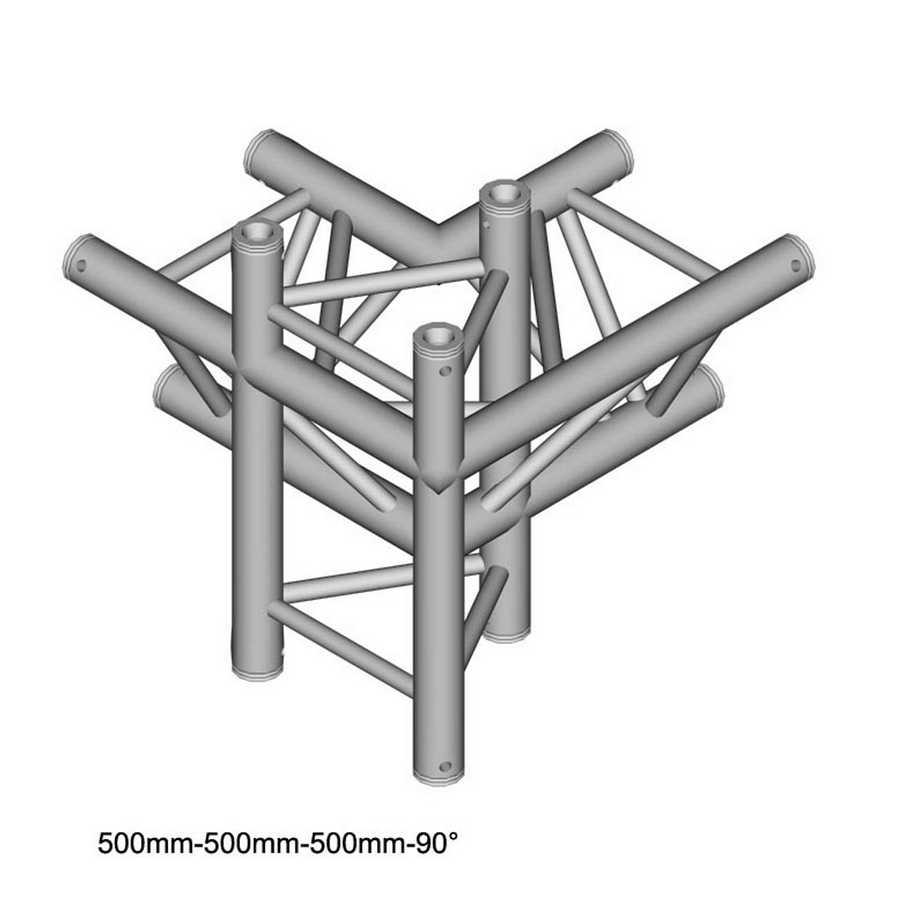 DuraTruss DT 33-C45-LUD 90° Corner + Up + Down