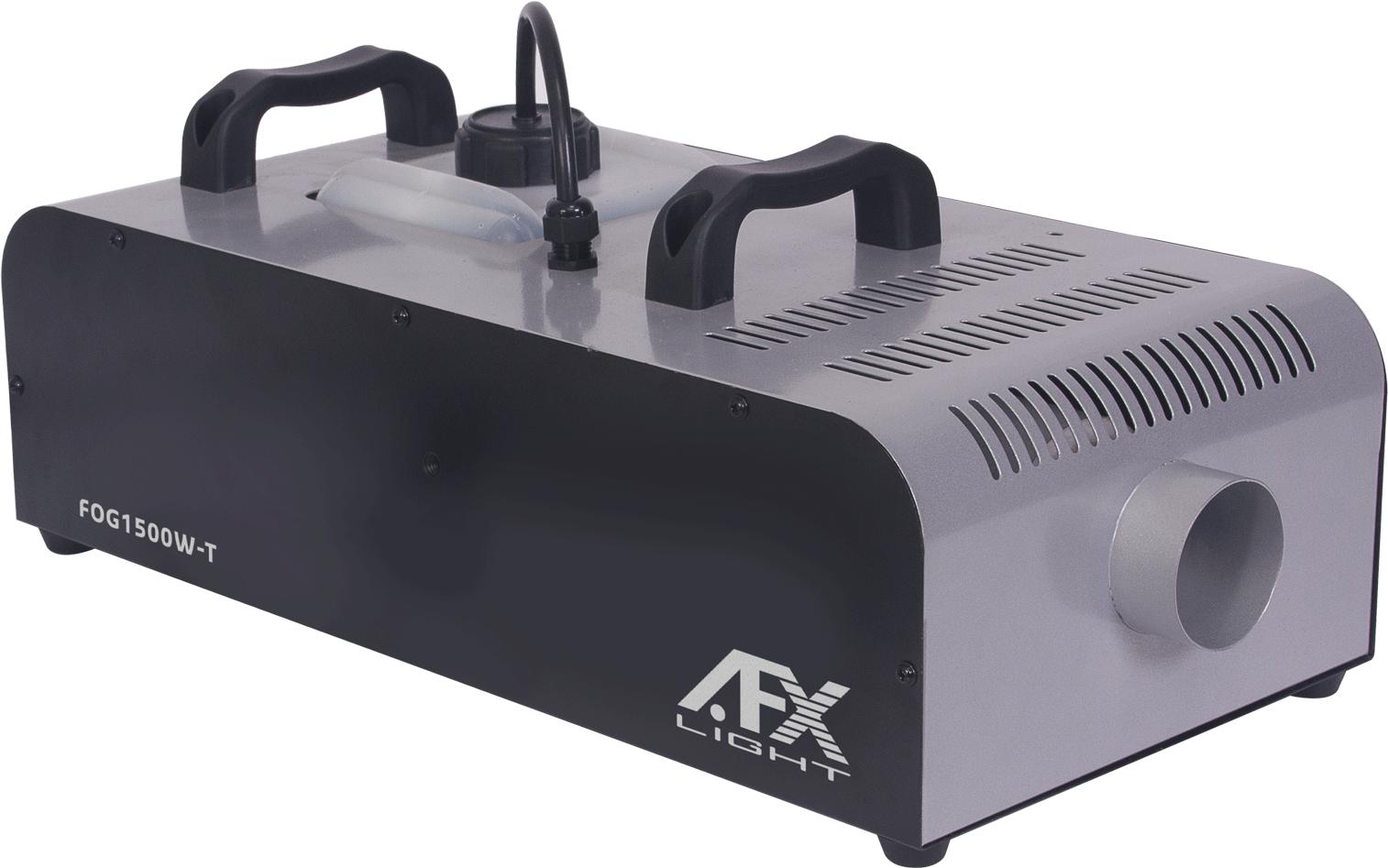 Image of   AFX 1500W røgmaskine med Timer, trådløs fjernbetjening og DMX