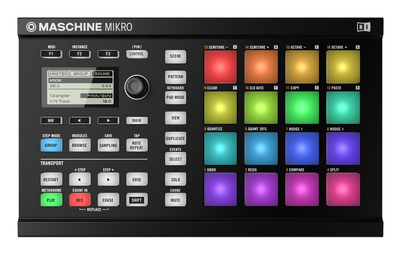 Image of   Native Instruments Maschine Mikro MK2 Black